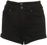 Topshop MOTO Black High Waisted Shorts