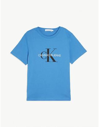 Calvin Klein Jeans Logo-print cotton T-shirt 4-16 years