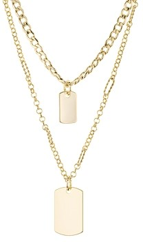 Jules Smith Designs Tag Me Layered Double-Pendant Necklace, 14 & 18