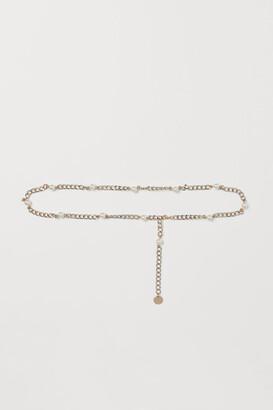 H&M Metal Waist Belt - Gold