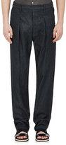 Lemaire Men's Elastic-Waist Cotton Trousers