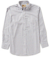 Roundtree & Yorke Gold Label Non-Iron Long-Sleeve Large Multi Check Sportshirt