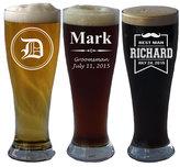 Etsy Personalized Pilsner Beer Glass, Custom Pilsner Glasses, Custom Beer Glass, Engraved Beer Mug, Groom