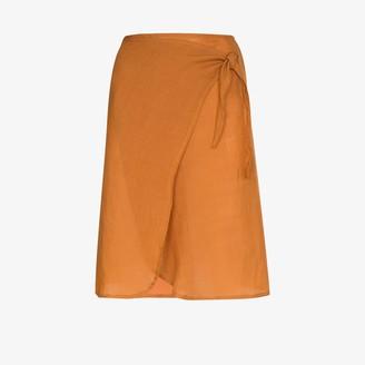 Anémone Femme high waist wrap skirt
