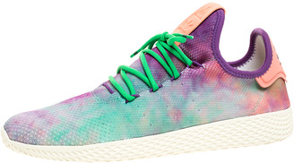 adidas Pharrell Williams x Dye Multicolor Knit Fabric PW Tennis Hu Sneakers Size 46