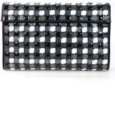 Isaac Mizrahi Black White Plaid Print Clutch Handbag $1450 New