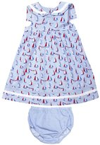 Jo-Jo JoJo Maman Bebe Nautical Dress W/ Knickers (Baby)-Blue-0-3 Months