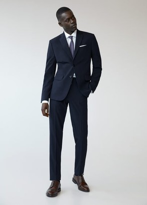 MANGO MAN - Slim fit suit blazer dark navy - 46 - Men
