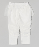 Tutus by Tutu AND Lulu White Skirted Ruffle Pants - Infant Toddler & Girls
