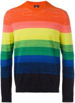 Paul Smith rainbow striped jumper - men - Cotton - M
