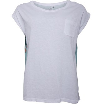 Animal Womens Woven Back T-Shirt White