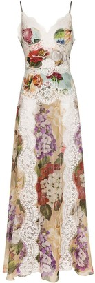 Dolce & Gabbana Floral-Print Slip Sdress