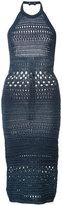 Balmain knitted halter dress - women - Cotton/Viscose - 34