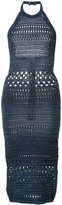 Balmain knitted halter dress - women - Cotton/Viscose - 38