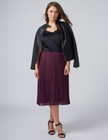 Lane Bryant Pleated Chiffon Midi Skirt