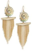 Alexis Bittar Lucite Shell Tassel Earrings