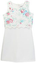 Blush by Us Angels Sleeveless Popover Print Lace Dress (Big Girls)