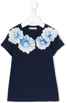 Moncler floral print T-shirt - kids - Cotton/Spandex/Elastane - 5 yrs