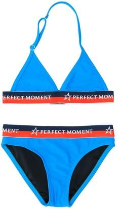 Perfect Moment Kids Colour Block Triangle Bikini