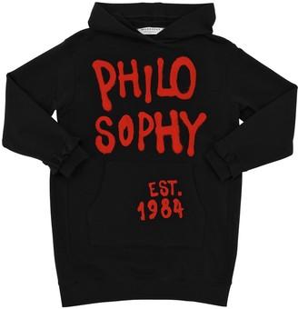 Philosophy di Lorenzo Serafini Logo Print Cotton Blend Sweatshirt Dress