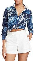 Polo Ralph Lauren Patchwork Knit Oxford Shirt