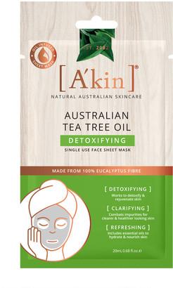Akin A'Kin Tea Tree Oil Detoxifying Sheet Mask - Limited Edition