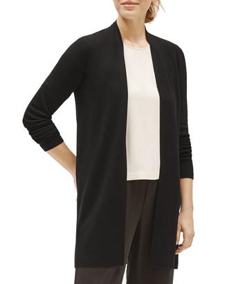 Eileen Fisher Plus Suze Ultra Fine Merino Wool Long Straight Cardigan