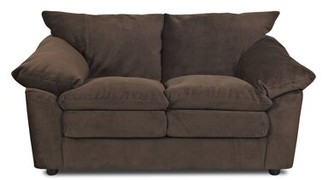 "Winston Porter Spilsby Microfiber 73"" Pillow top Arm Sofa Upholstery: Chocolate"
