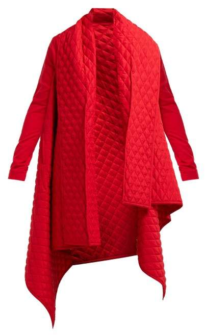 Norma Kamali Blanket Quilted Coat - Womens - Red