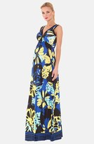 Olian Women's 'Ariana' Print Jersey Maternity Maxi Dress