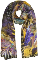 Laura Biagiotti Floral and Nature Print Silk Stole