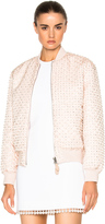 Givenchy Crystal Pearl Embroidered Bomber