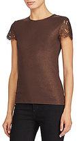Lauren Ralph Lauren Lace-Sleeve T-Shirt