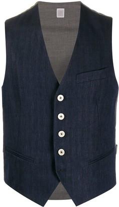Eleventy Two Tone Waistcoat