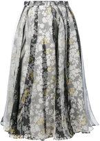 Jil Sander floral pleated skirt - women - Silk - 34