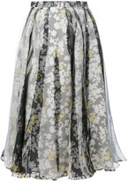 Jil Sander floral pleated skirt