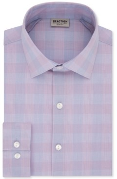 Kenneth Cole Reaction Men's Slim-Fit All-Day Flex Horizon Check Dress Shirt