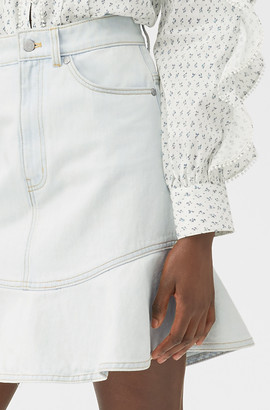 Rebecca Taylor La Vie Denim Ruffle Skirt