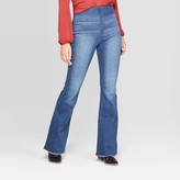 Knox Rose™ Woen's id-Rise Pull On Flare Deni Pants - Knox RoseTM Light Wash