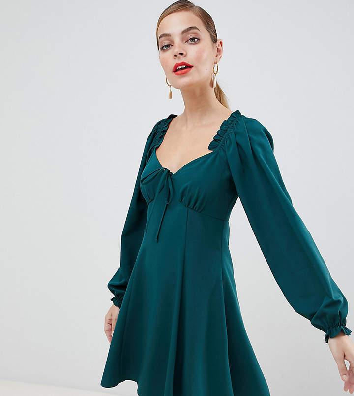 9889a1addda DESIGN Petite sweetheart babydoll mini swing dress