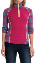 Neve Ali Snowflake Sweater - Merino Wool, Zip Neck (For Women)