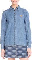 Kenzo Long-Sleeve Denim Shirt, Working Blue
