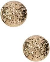 Candela 14K Yellow Gold Diamond Cut Stud Earrings