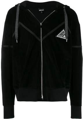 Just Cavalli striped zip-up hoodie