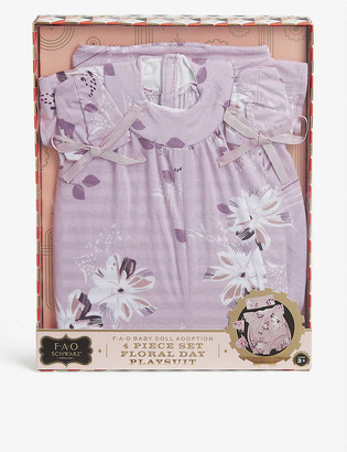 My F.A.O Doll Doll floral playsuit set of four
