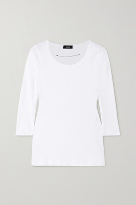 Bassike Ribbed Stretch Organic Cotton-jersey Top - White