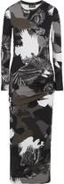 Just Cavalli Printed stretch-jersey midi dress
