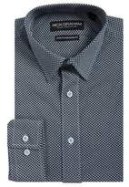 Nick Graham Zig-Zag Printed Button-Down Shirt