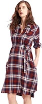 Gap Plaid tie-belt shirtdress