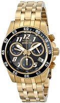 Invicta Women's Pro Diver Quartz Watch with Blue Dial Chronograph Display and Gold Stainless Steel Plated Bracelet 15510
